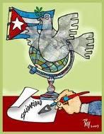 Puertopadrenses por los Cinco Héroes y la paz mundial