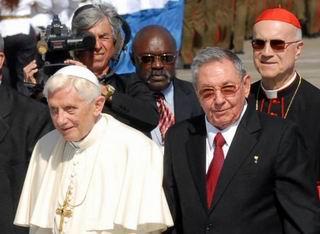 Se reunirán en La Habana el Papa Benedicto XVI y Raúl Castro