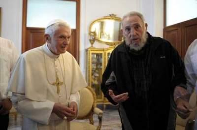 Fidel Castro se reúne con el Papa Benedicto XVI